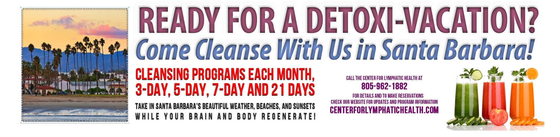 Register for an Anti-Aging Cleanse by the Sea | Click Above for Detailed Flyer
