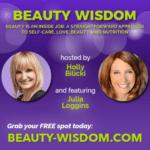 Julia Loggins speaking at beauty webinar