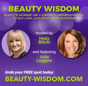 Julia Loggins speaking at beauty and beautiful webinar